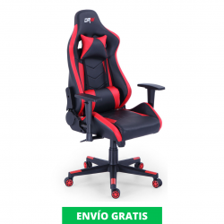 Sillón Giratorio Gamer PRO | Rojo y Negro