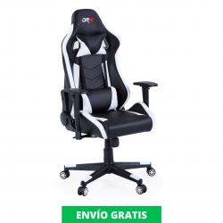 Sillón Giratorio Gamer PRO | Blanco y Negro