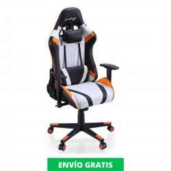 Sillón Giratorio Gamer XTR | Blanco Negro Naranja