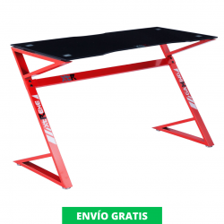 Mesa Gaming |  XT03 Pro Roble Carbono-Rojo