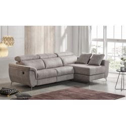 Sofa 3 plazas (mecanismo eléctrico) + Chaisselongue