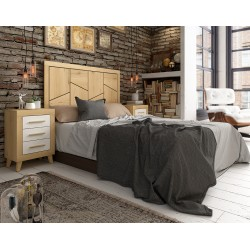 Dormitorio de Matrimonio Roble/Blanco